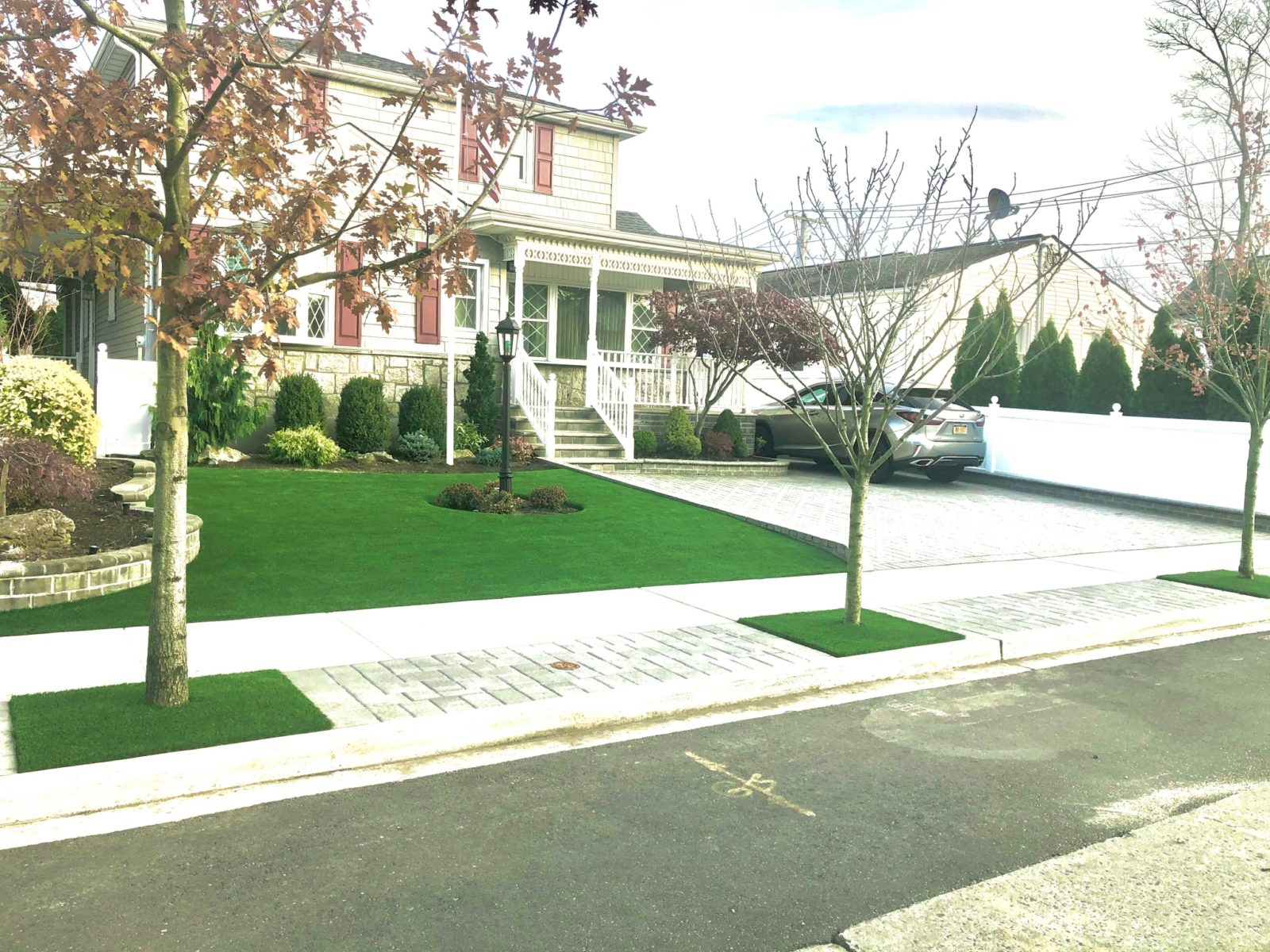 Elite Synthetic Surfaces Artificial Grass Front Yard Ny